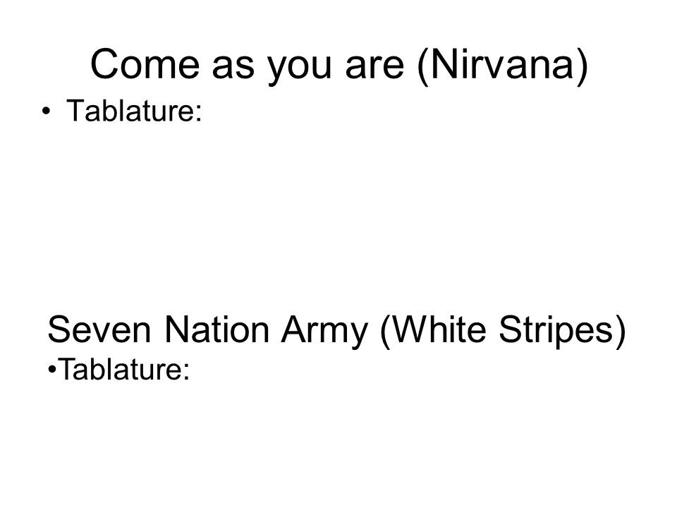 Come as you are (Nirvana)