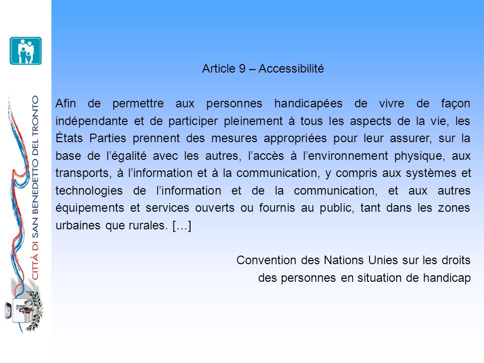 Article 9 – Accessibilité