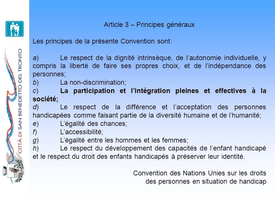Article 3 – Principes généraux