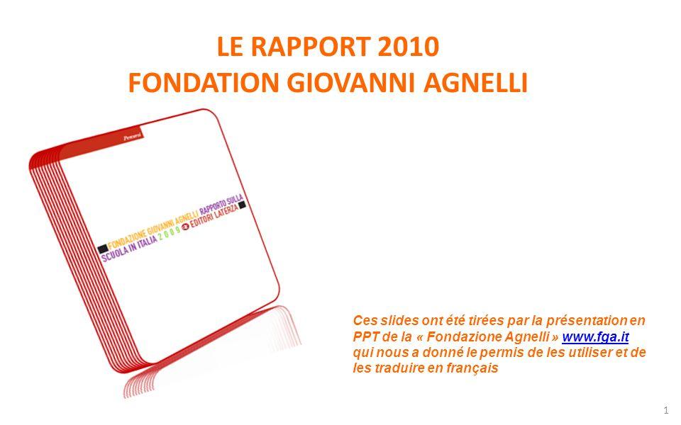 LE RAPPORT 2010 FONDATION GIOVANNI AGNELLI