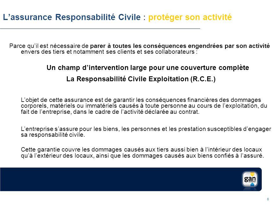 police responsabilité civile