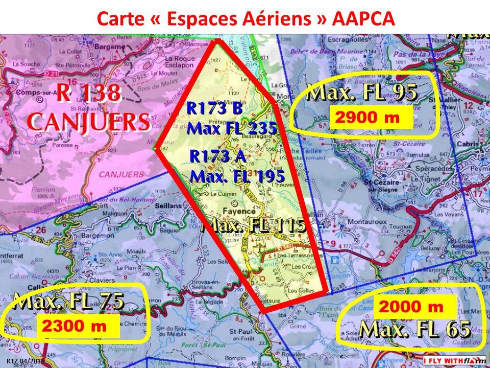 Carte « Espaces Aériens » AAPCA