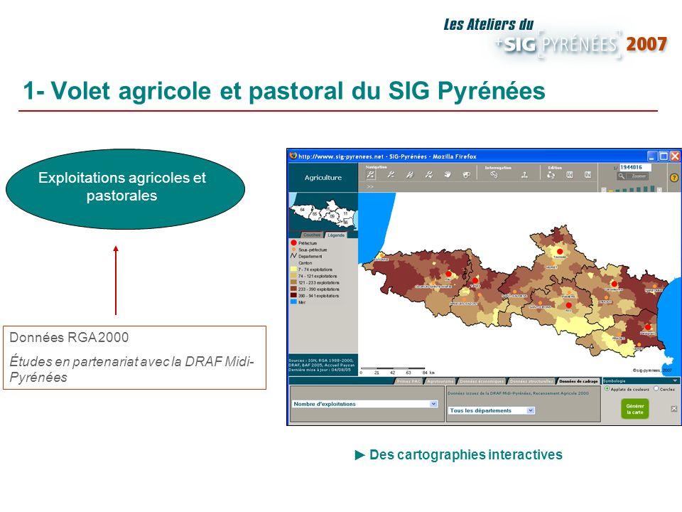 1- Volet agricole et pastoral du SIG Pyrénées
