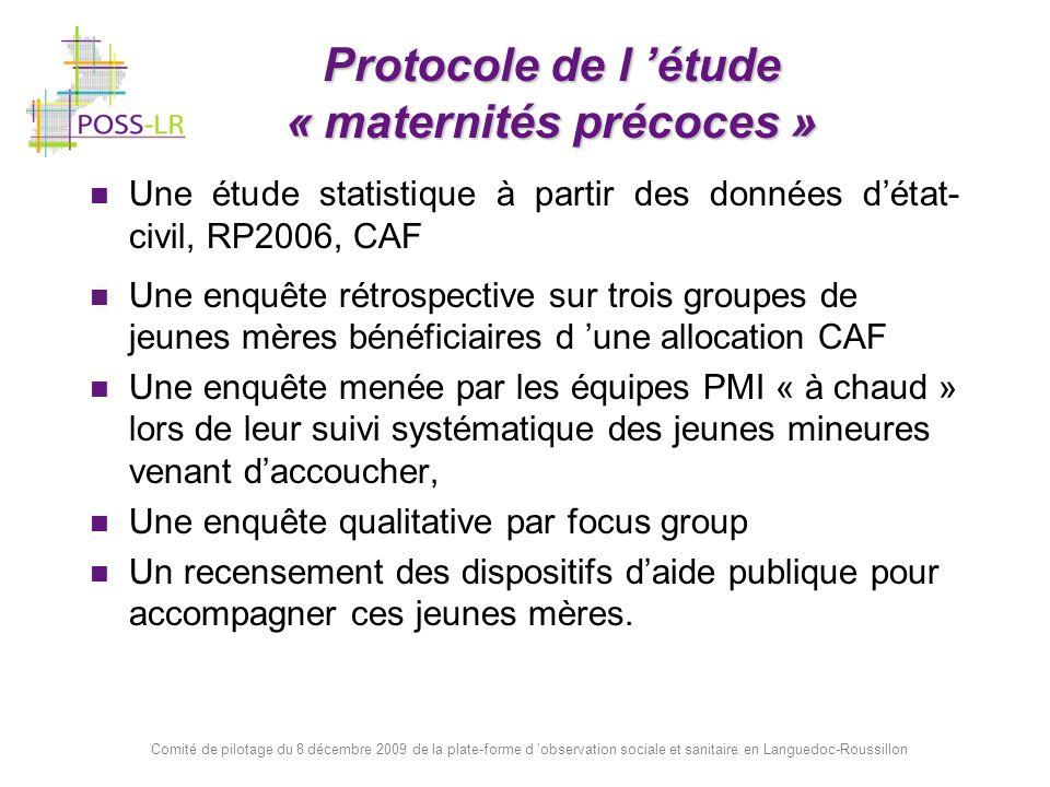 Protocole de l 'étude « maternités précoces »