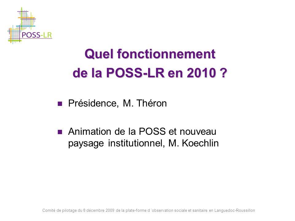 Quel fonctionnement de la POSS-LR en 2010 Présidence, M. Théron