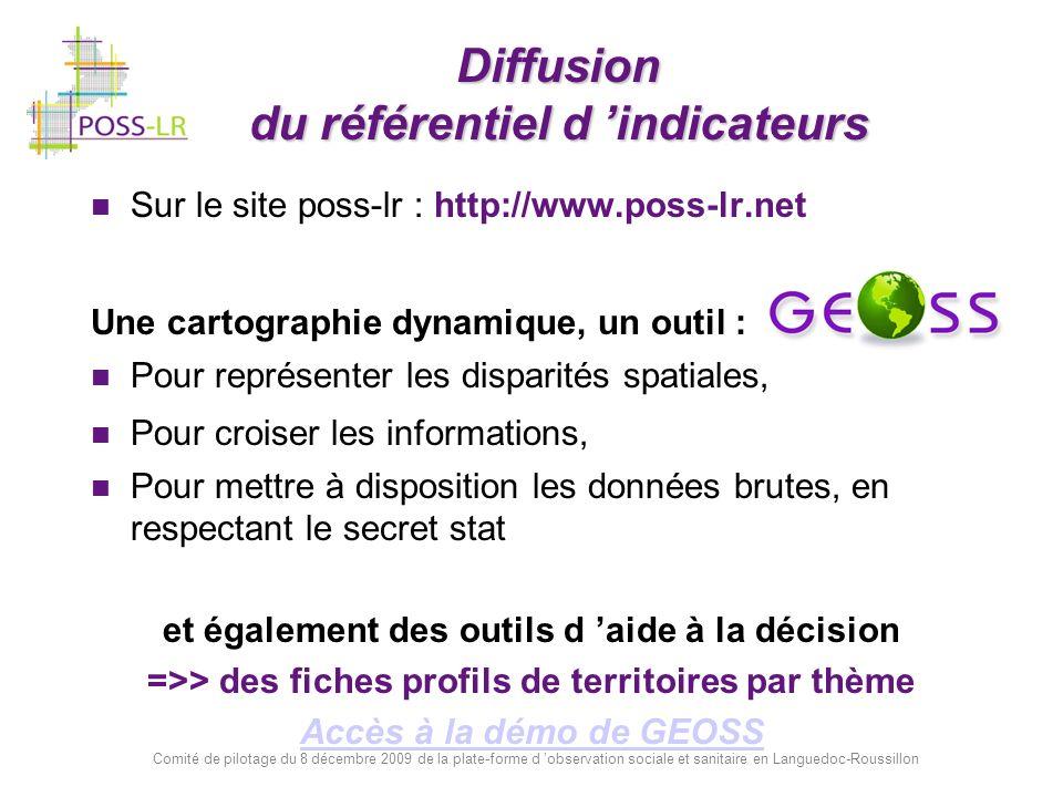 Diffusion du référentiel d 'indicateurs