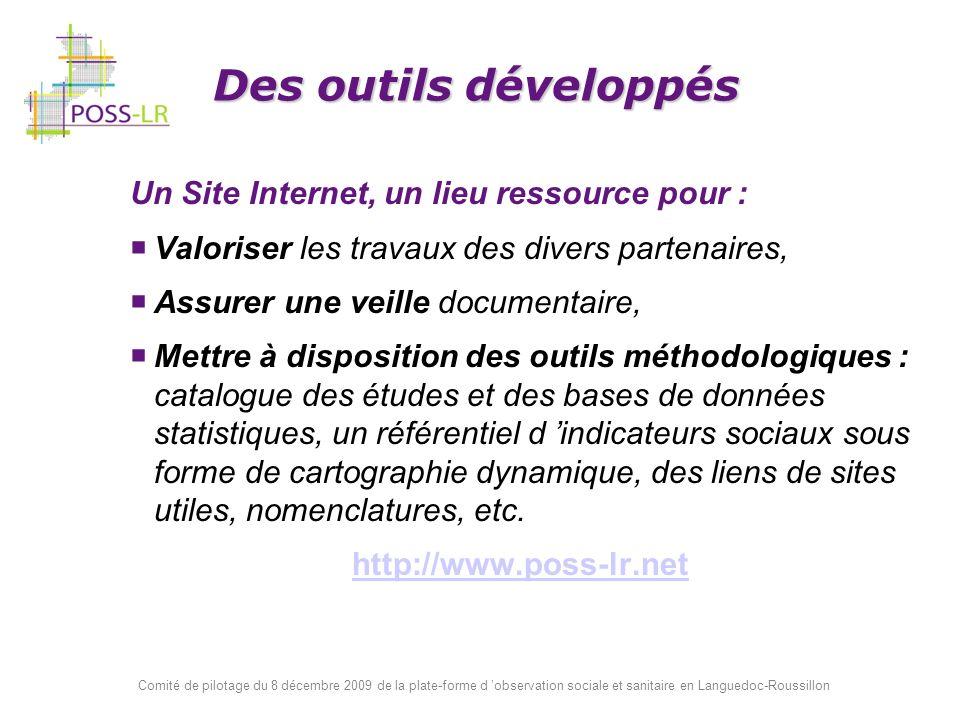 Des outils développés Un Site Internet, un lieu ressource pour :