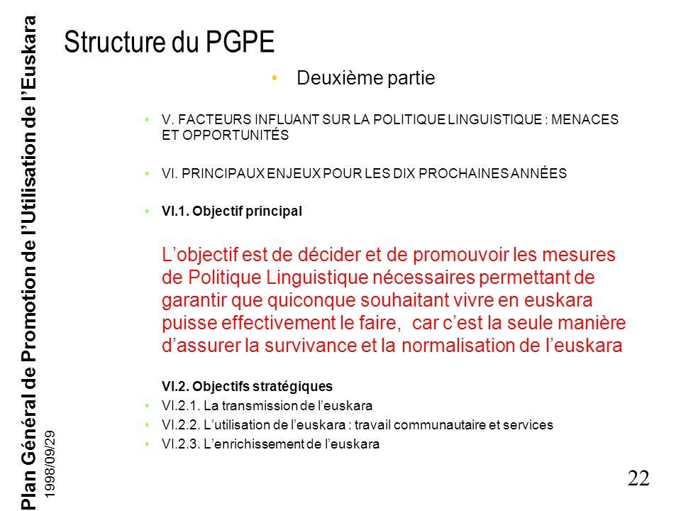 Structure du PGPE Deuxième partie