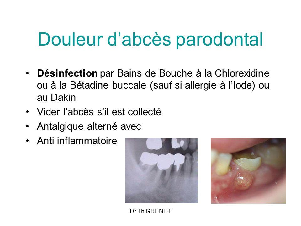 Douleur d'abcès parodontal