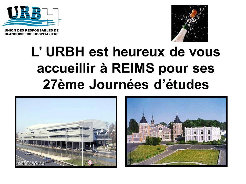 L' URBH est heureux de vous accueillir à REIMS pour ses 27ème Journées d'études