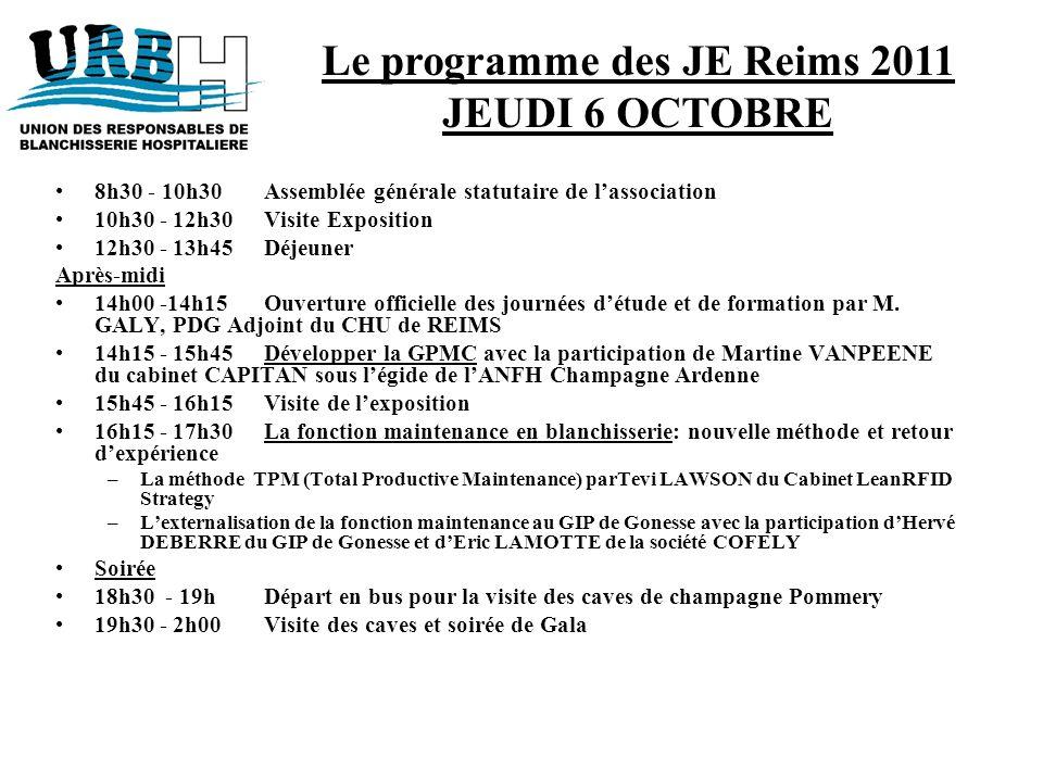 Le programme des JE Reims 2011