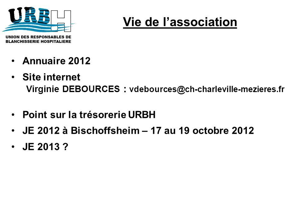 Vie de l'association Annuaire 2012 Site internet
