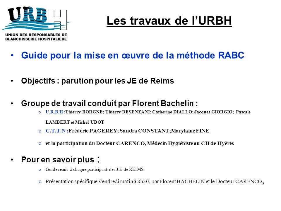 Les travaux de l'URBH Guide pour la mise en œuvre de la méthode RABC