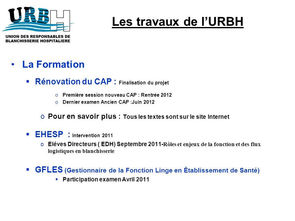 Les travaux de l'URBH La Formation
