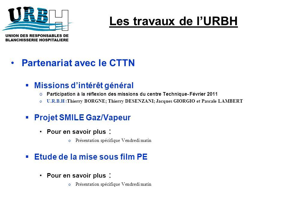 Les travaux de l'URBH Partenariat avec le CTTN