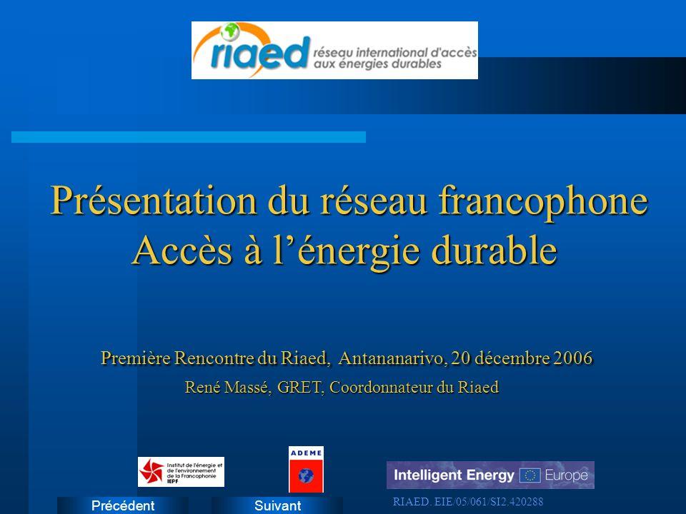 Présentation du réseau francophone Accès à l'énergie durable
