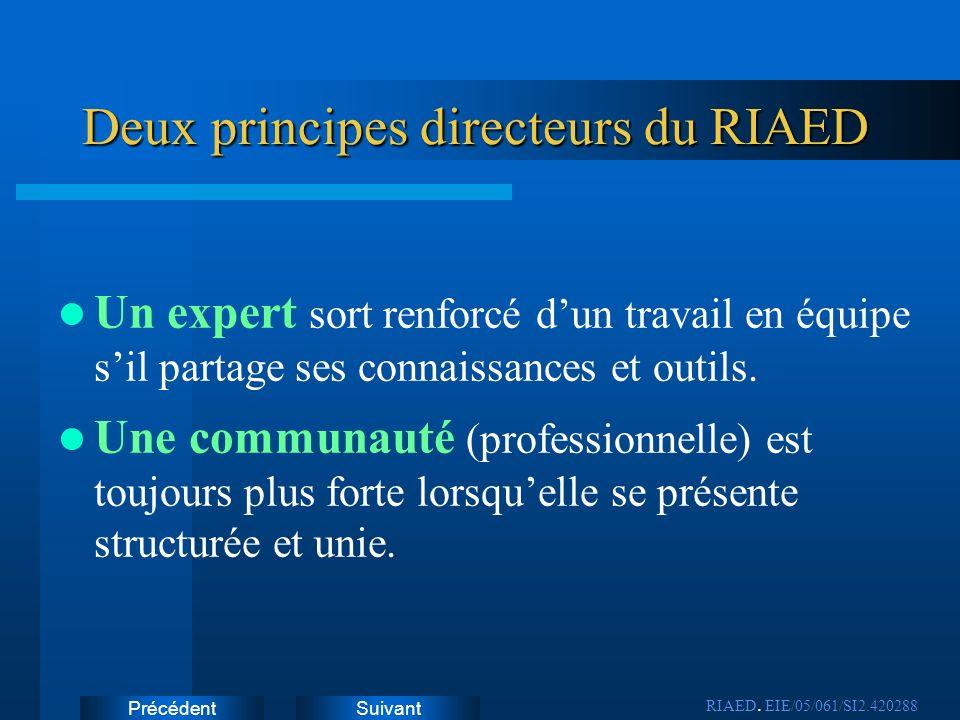 Deux principes directeurs du RIAED