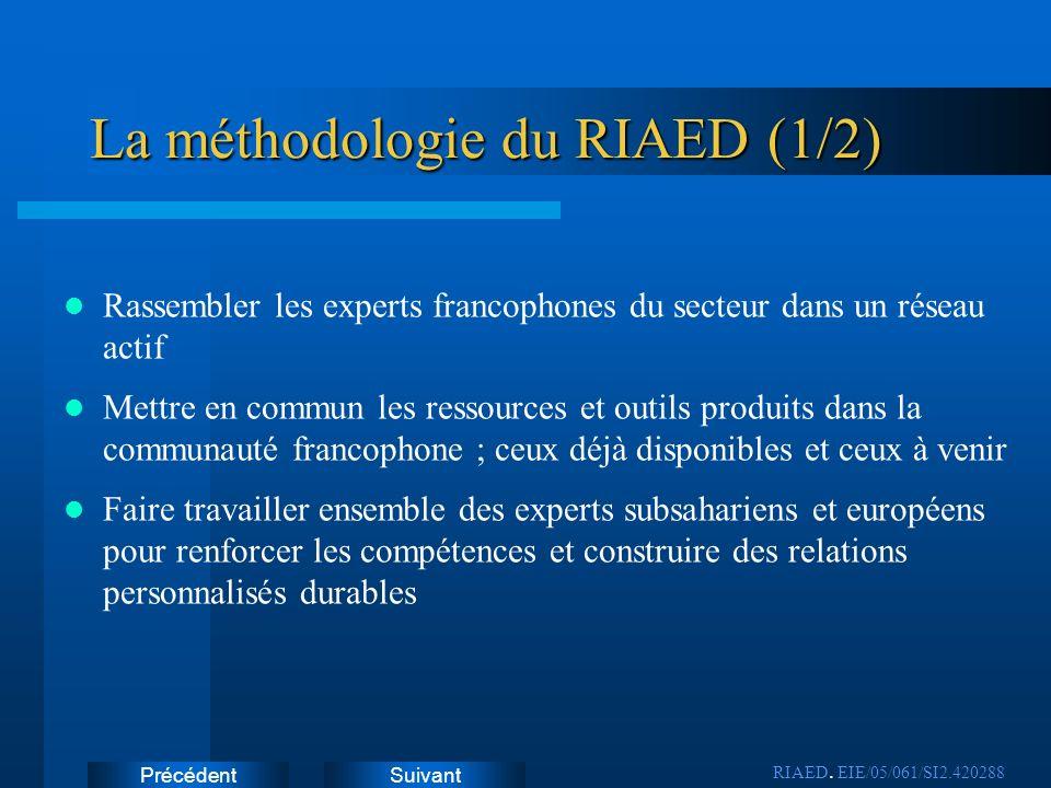La méthodologie du RIAED (1/2)