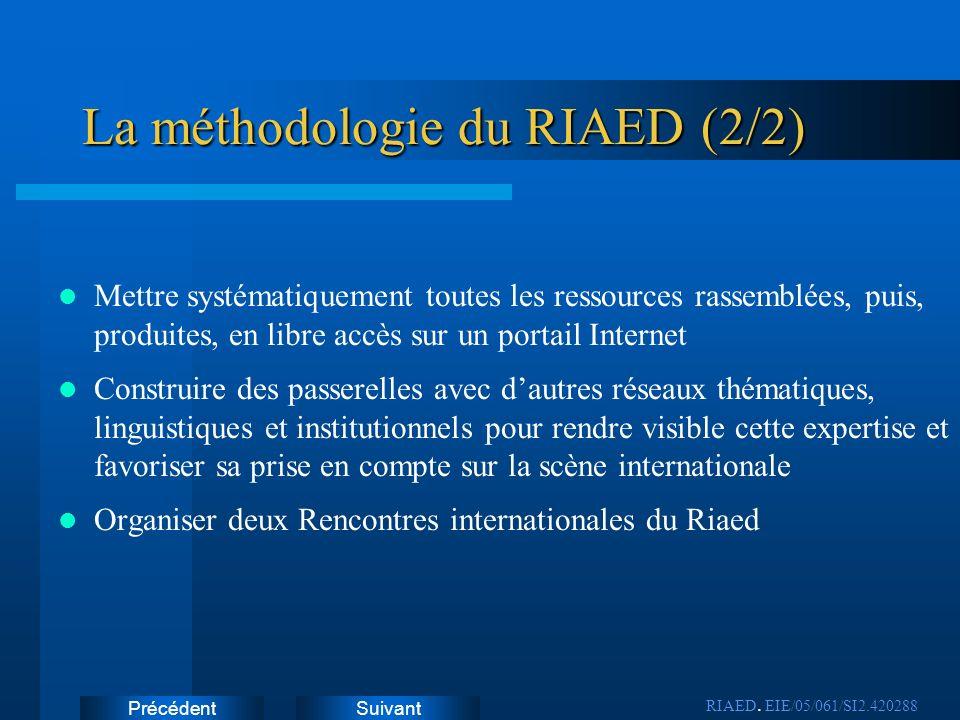 La méthodologie du RIAED (2/2)