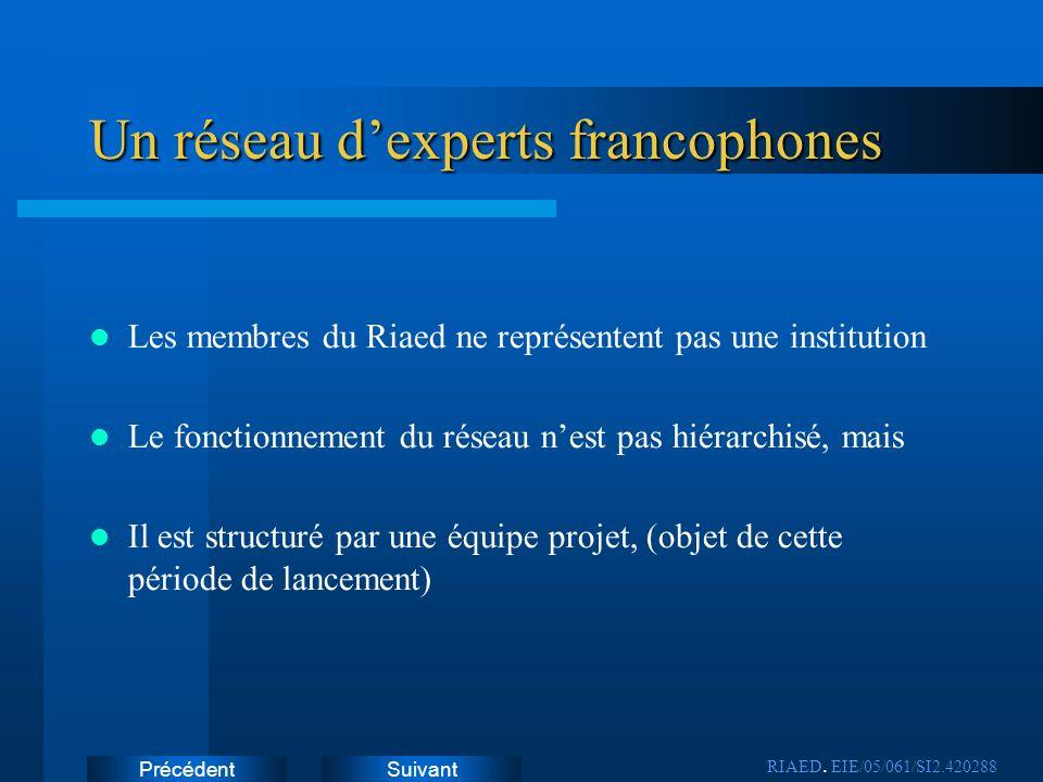 Un réseau d'experts francophones