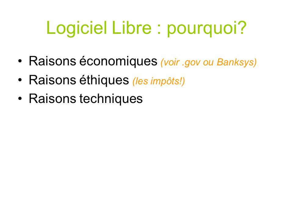 Logiciel Libre : pourquoi