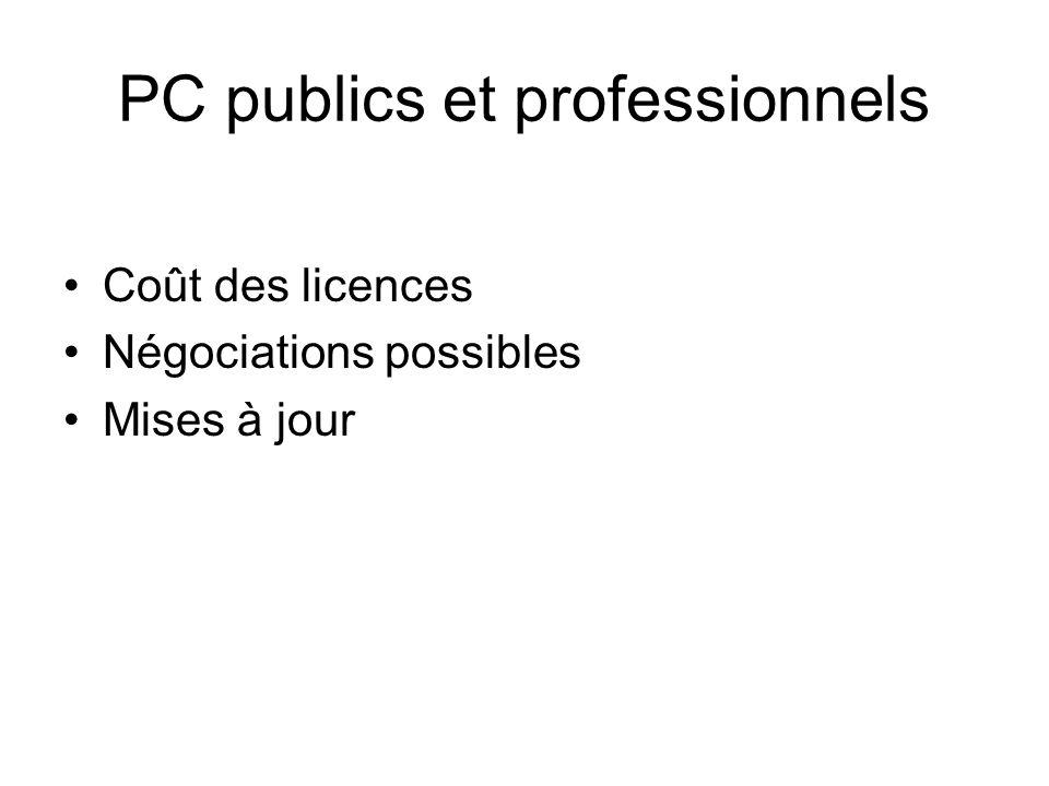 PC publics et professionnels