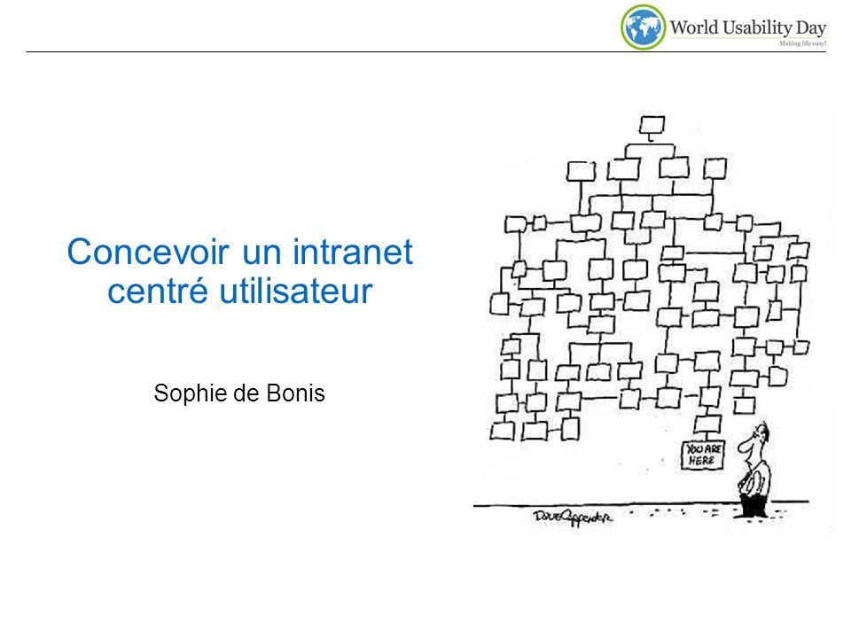 Concevoir un intranet centré utilisateur Sophie de Bonis