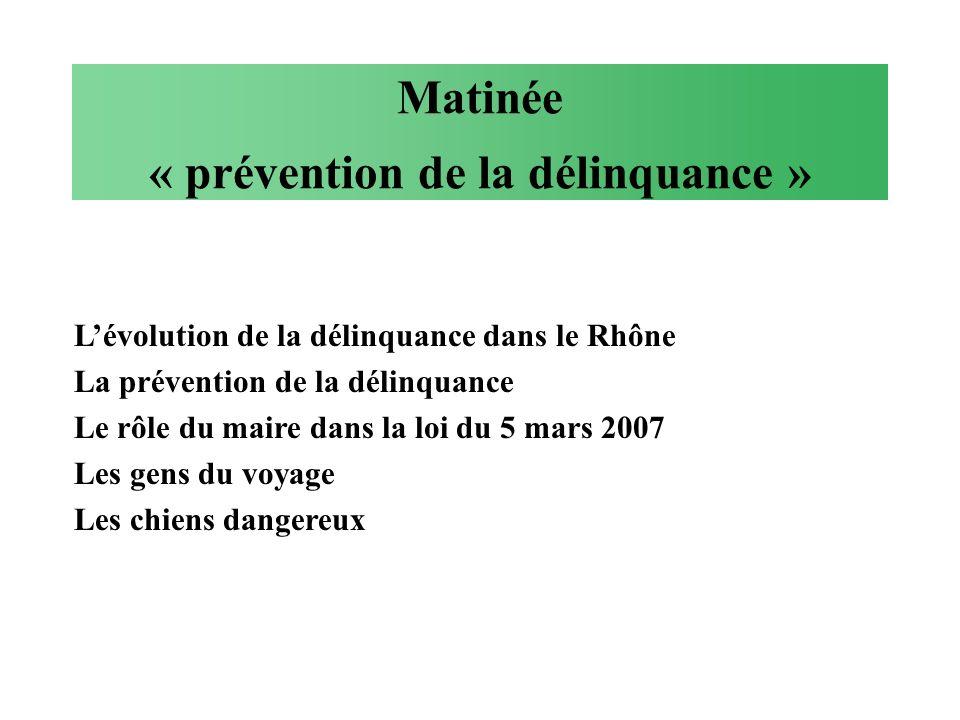 Matinée « prévention de la délinquance »