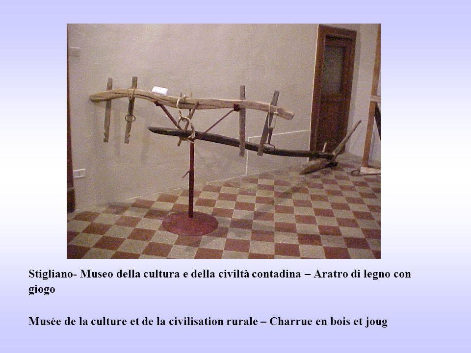 Stigliano- Museo della cultura e della civiltà contadina – Aratro di legno con giogo Musée de la culture et de la civilisation rurale – Charrue en bois et joug