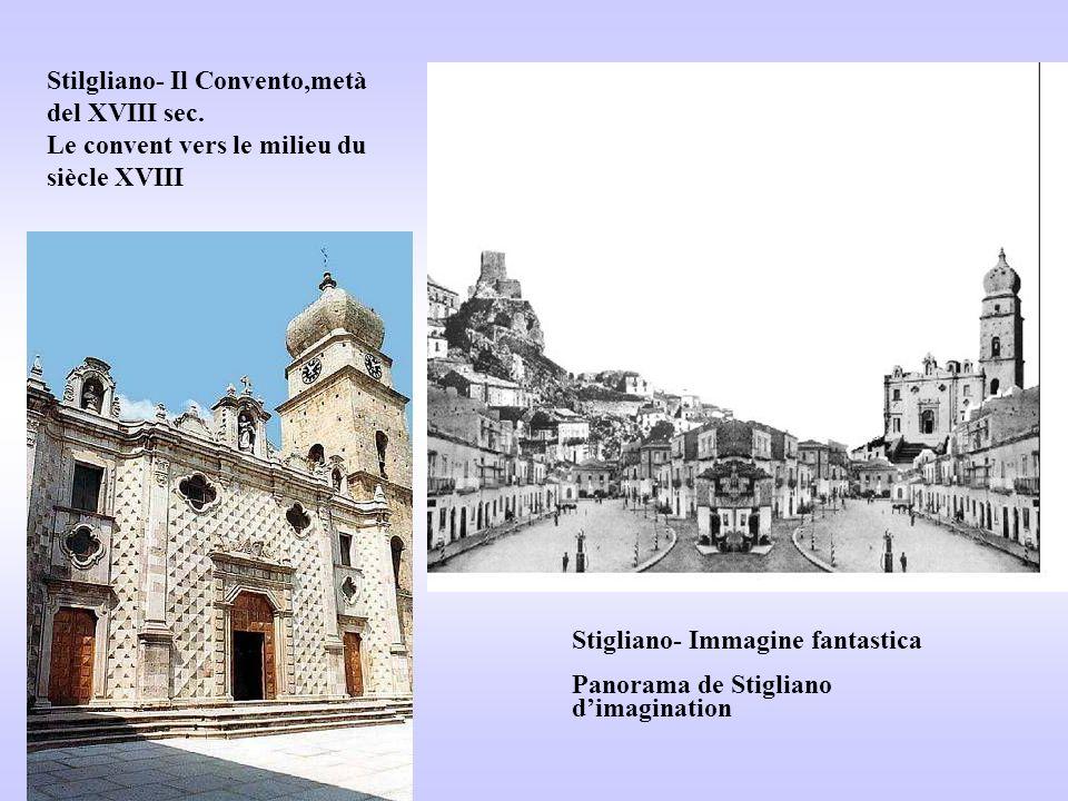 Stigliano- Immagine fantastica Panorama de Stigliano d'imagination