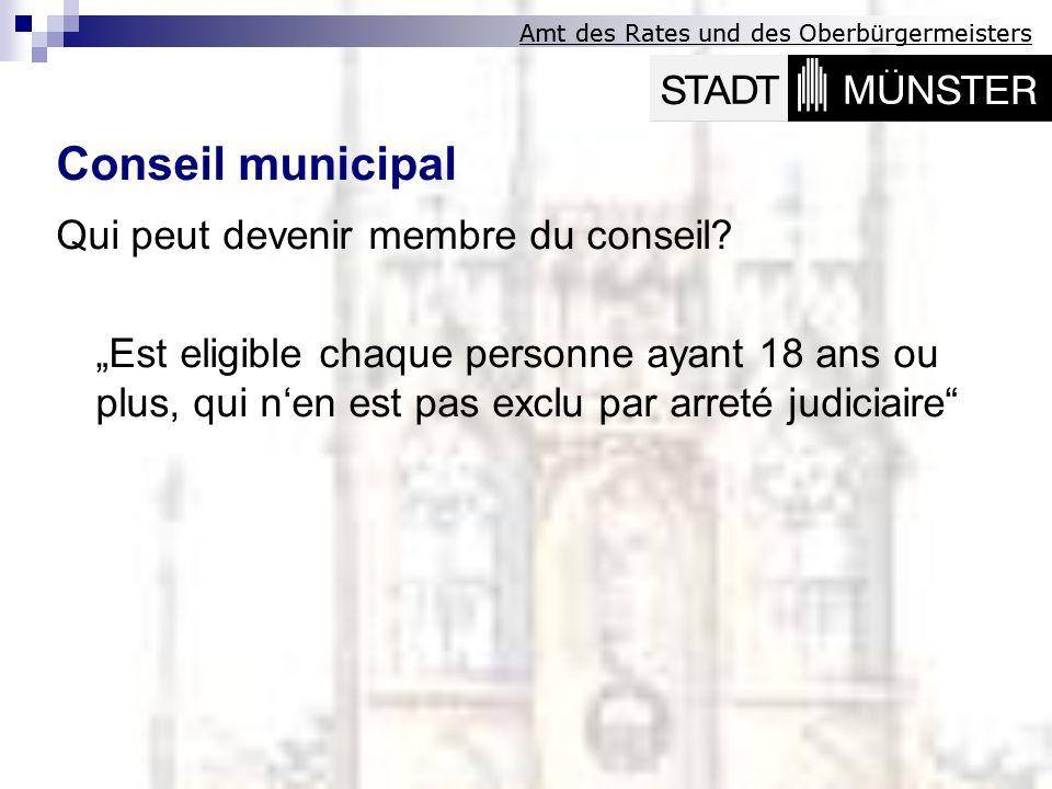 Conseil municipal Qui peut devenir membre du conseil