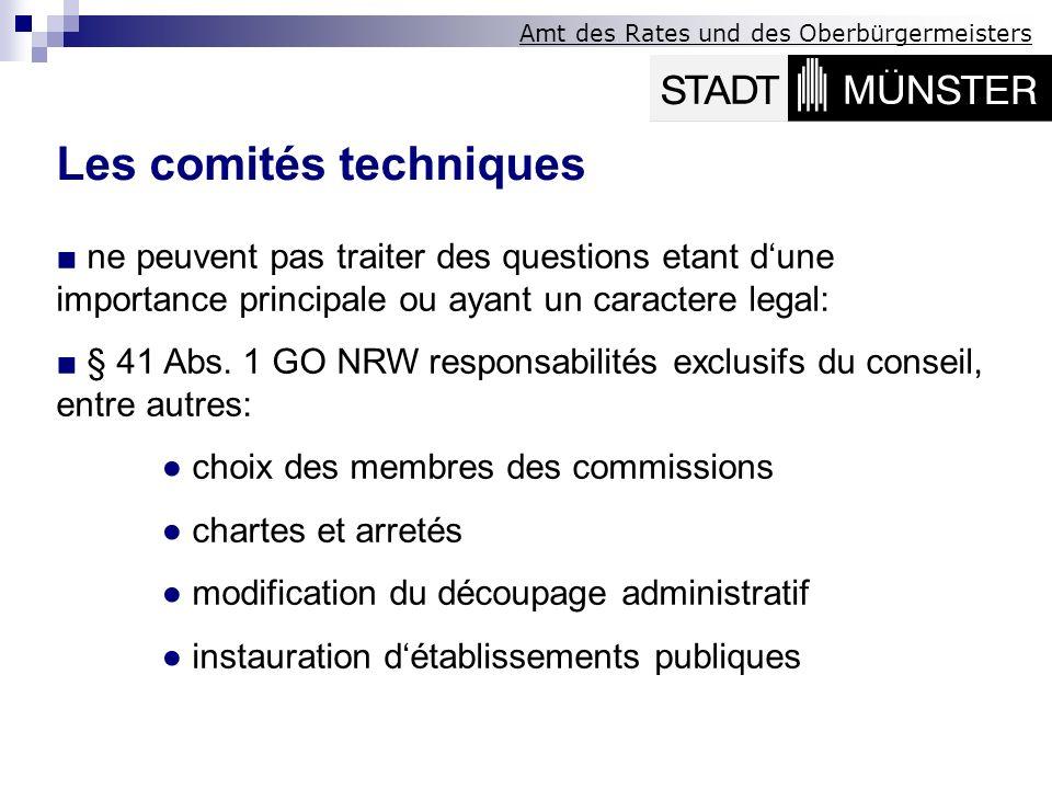Les comités techniques