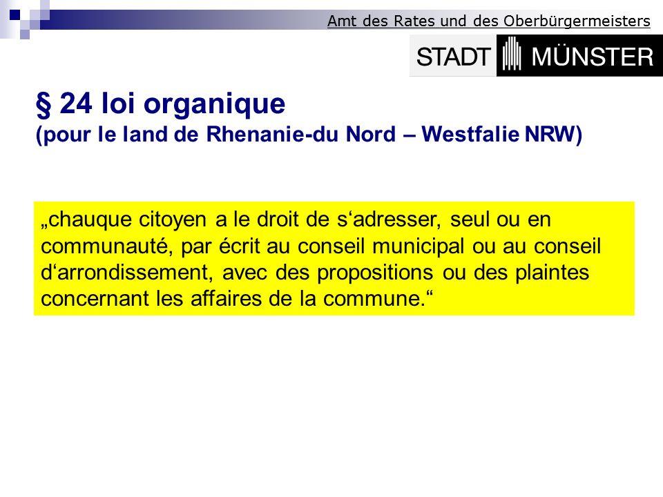 § 24 loi organique (pour le land de Rhenanie-du Nord – Westfalie NRW)