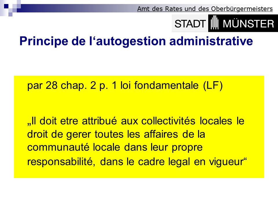 Principe de l'autogestion administrative