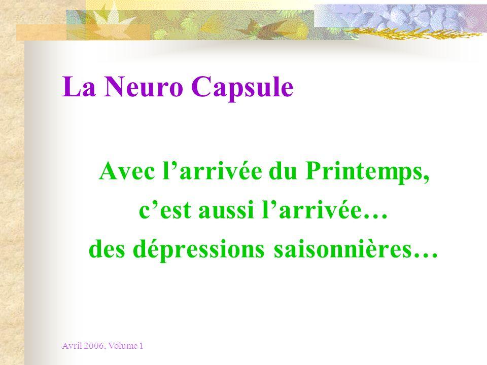 La Neuro Capsule Avec l'arrivée du Printemps, c'est aussi l'arrivée…