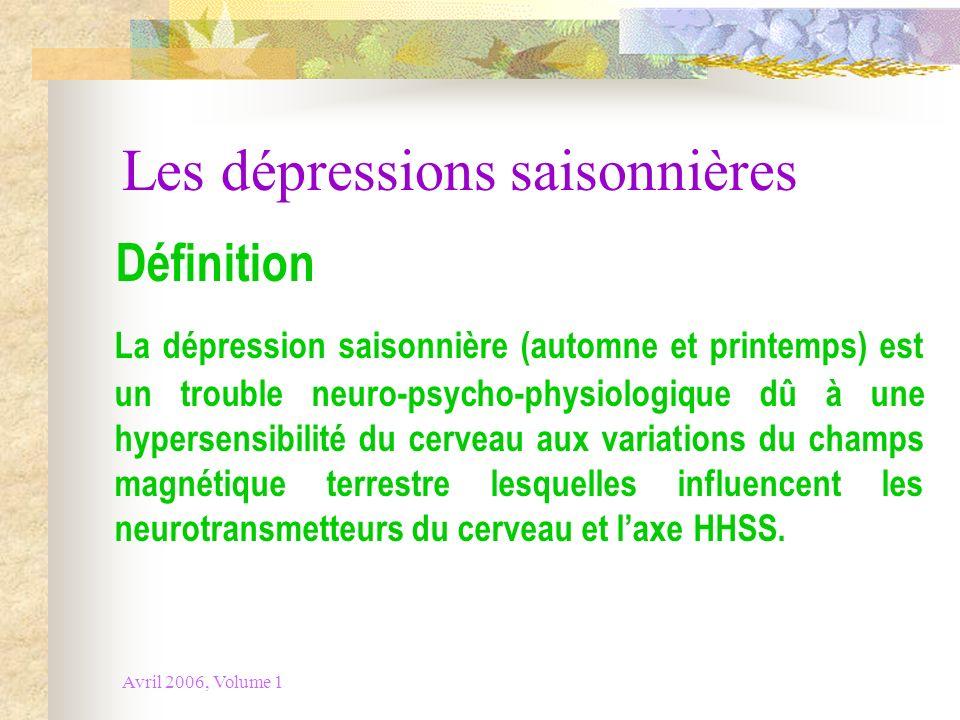 Les dépressions saisonnières