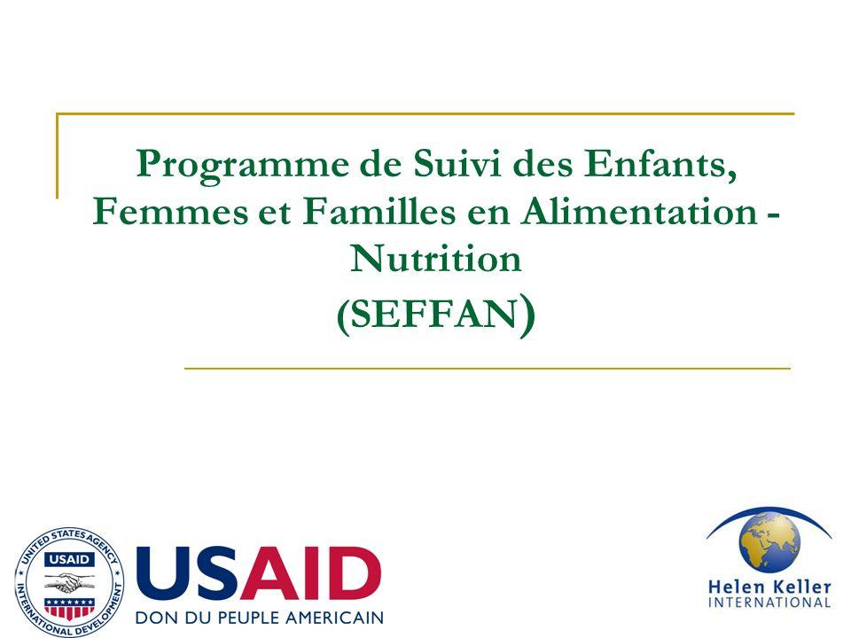 Programme de Suivi des Enfants, Femmes et Familles en Alimentation - Nutrition (SEFFAN)