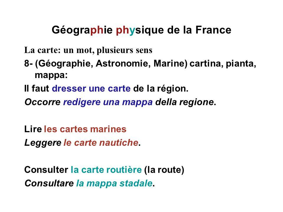 Géographie physique de la France