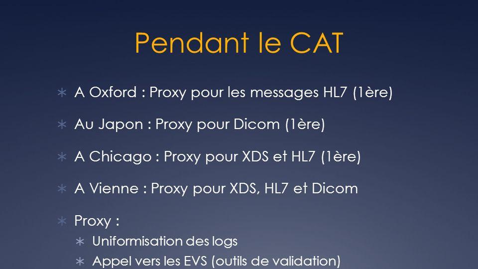Pendant le CAT A Oxford : Proxy pour les messages HL7 (1ère)