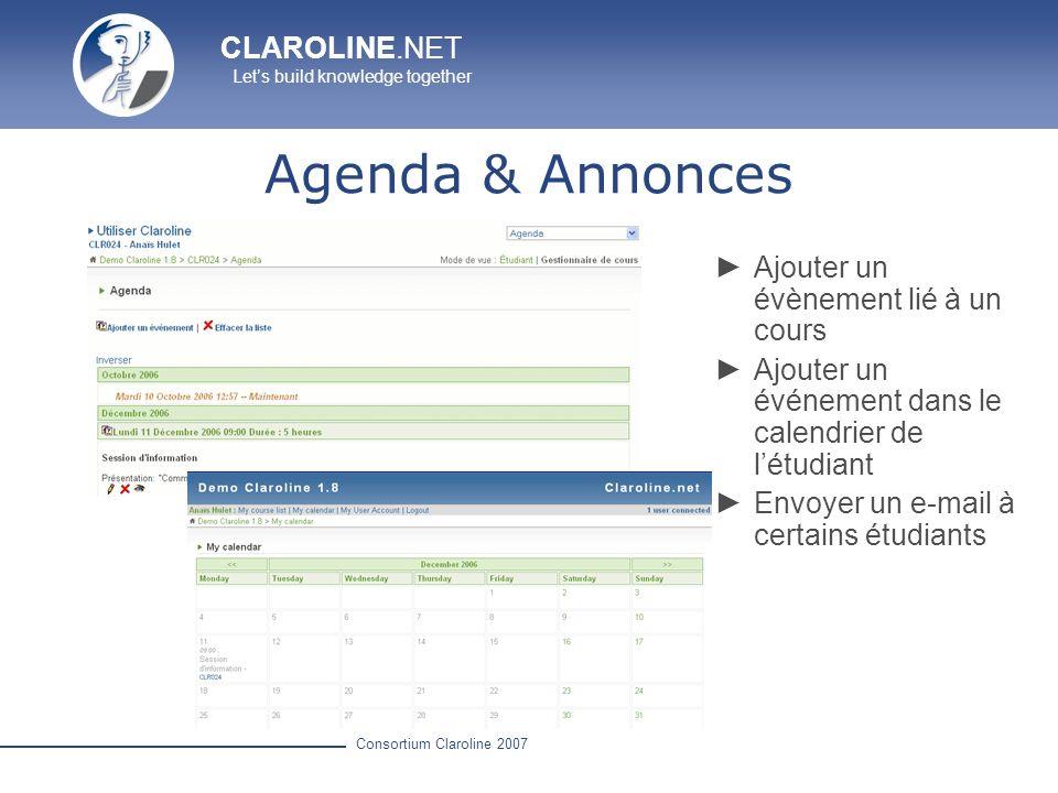 Agenda & Annonces Ajouter un évènement lié à un cours