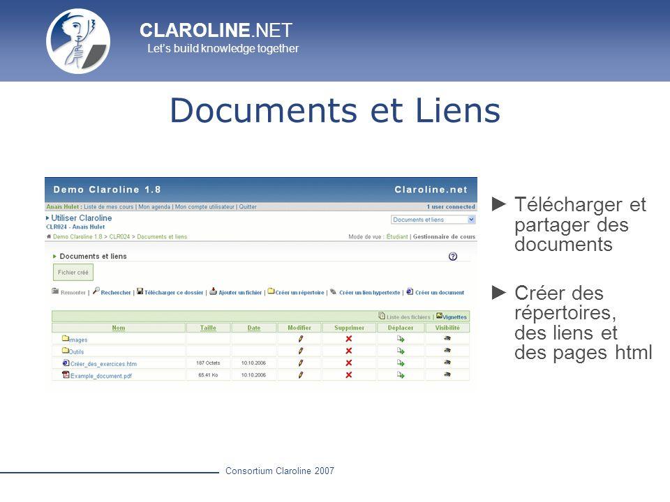 Documents et Liens Télécharger et partager des documents
