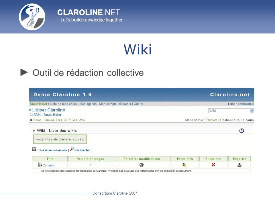 Wiki Outil de rédaction collective