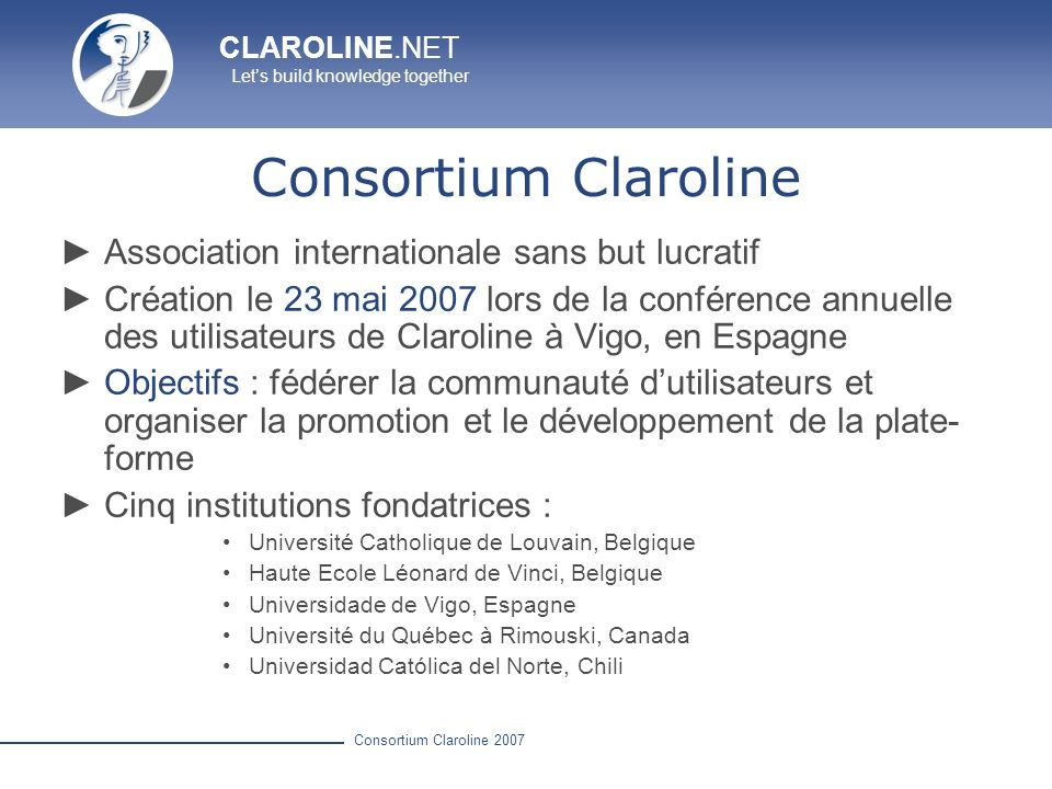 Consortium Claroline Association internationale sans but lucratif
