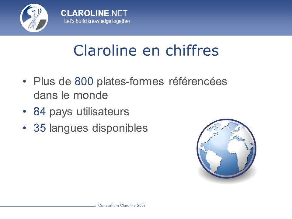 Claroline en chiffres Plus de 800 plates-formes référencées dans le monde.