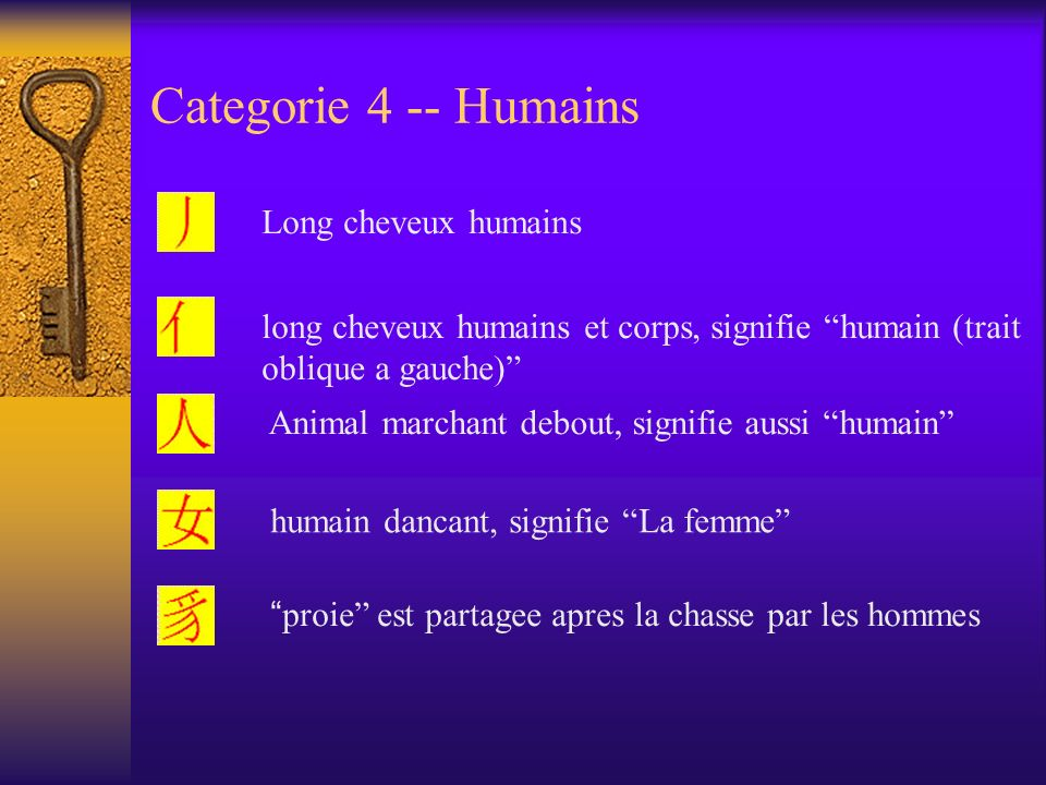 Categorie 4 -- Humains Long cheveux humains