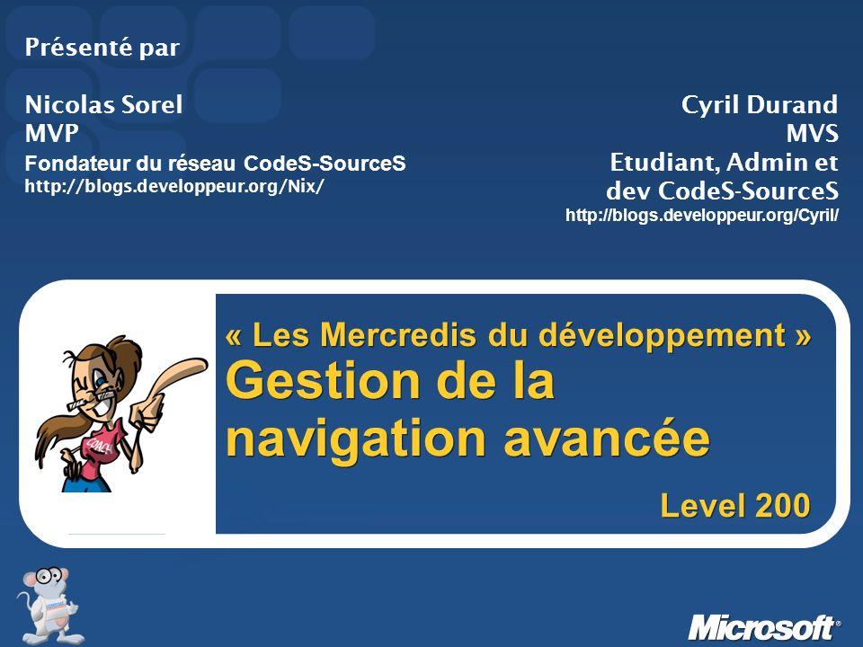« Les Mercredis du développement » Gestion de la navigation avancée