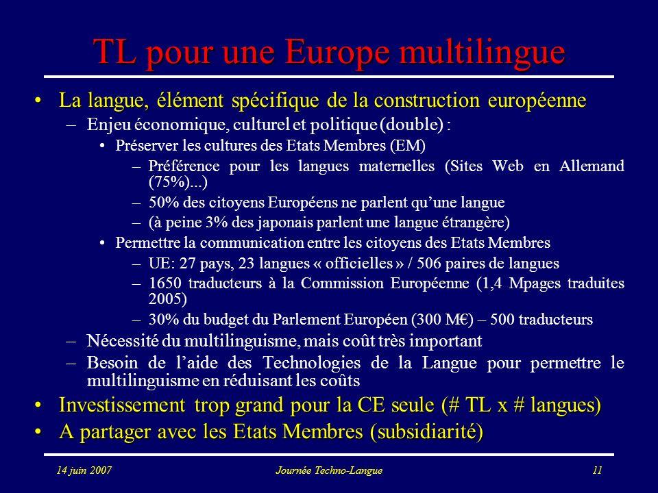 TL pour une Europe multilingue