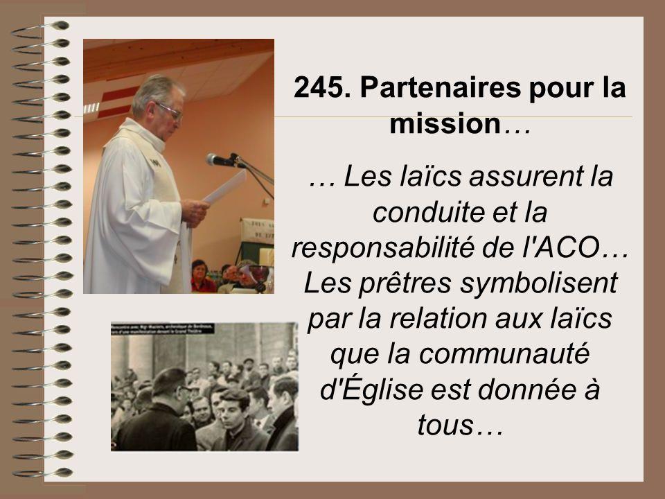 245. Partenaires pour la mission…