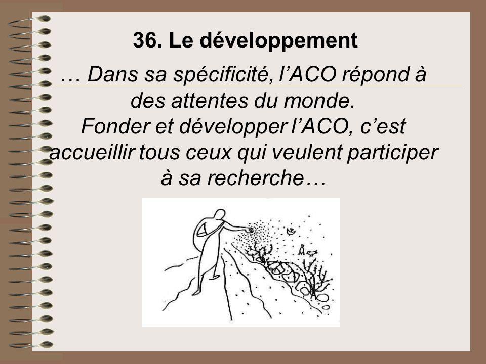 36. Le développement