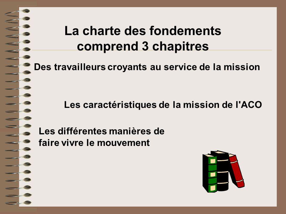 La charte des fondements comprend 3 chapitres
